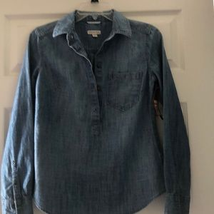 Denim collared shirt, brand new never worn.